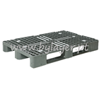 Perforated plastic pallet (1200x800mm) with 3 sleepers
