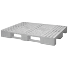 Perfored plastic pallet (1200x800mm) with 3 white sleepers