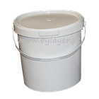 6.5L UN Approved Bucket High White with Lid and handle