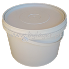 8,5L UN approved bucket low white with lid and handle