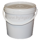 12L UN approved bucket white with lid and handle