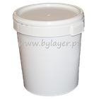 32L UN approved bucket white with lid