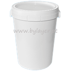 Approved UN 55L white bucket with tamper proof lid