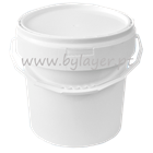 16L white bucket with tamper proof lid and handle