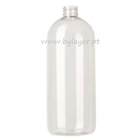 Cylindrical PET bottle 1000 ml transparent