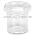 140ml transparent bucket with lid
