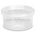 200ml transparent bucket with lid