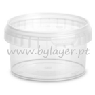 240ml transparent bucket with lid