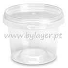 275ml transparent bucket with lid