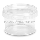 280ml transparent bucket with lid