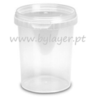 520ml transparent bucket with lid