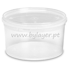 1L transparent bucket with lid