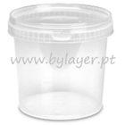 1,5L transparent bucket with lid and handle