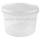 3L transparent bucket with lid and handle