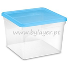 3,5L transparent square bucket with lid