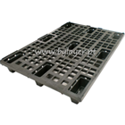 Black plastic pallet perforated